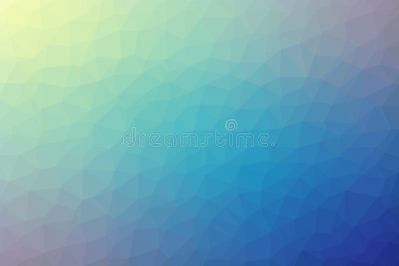 多角形抽象几何蓝色和黄色三角低多梯度背景传染媒介例证 库存例证