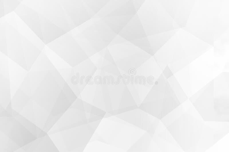 多角形抽象背景在白色背景的 皇族释放例证