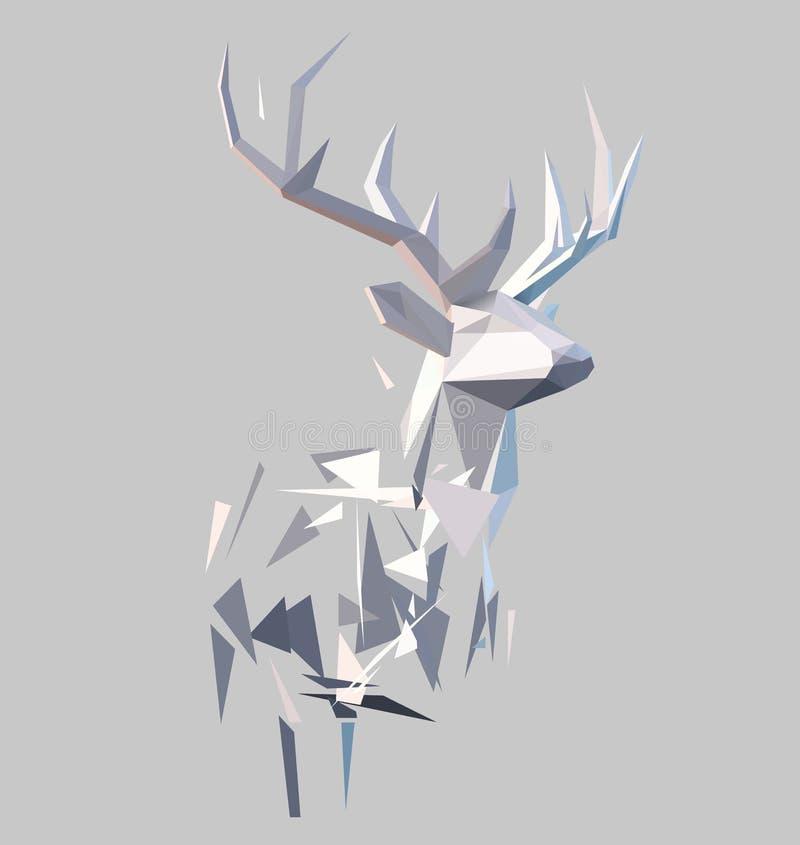 多角形抽象雄鹿 皇族释放例证