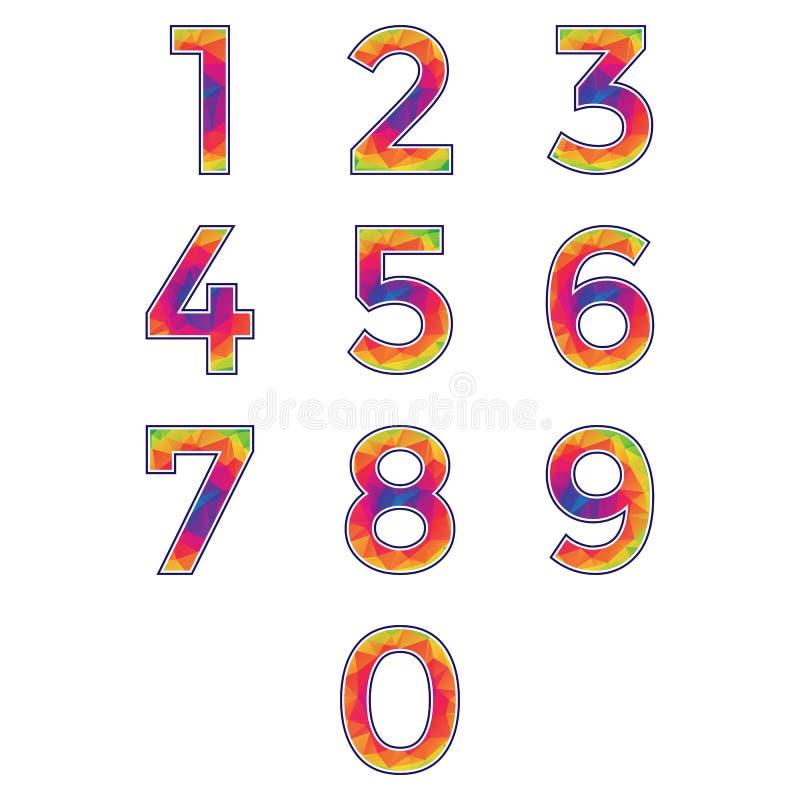 多角形数字集合 库存例证