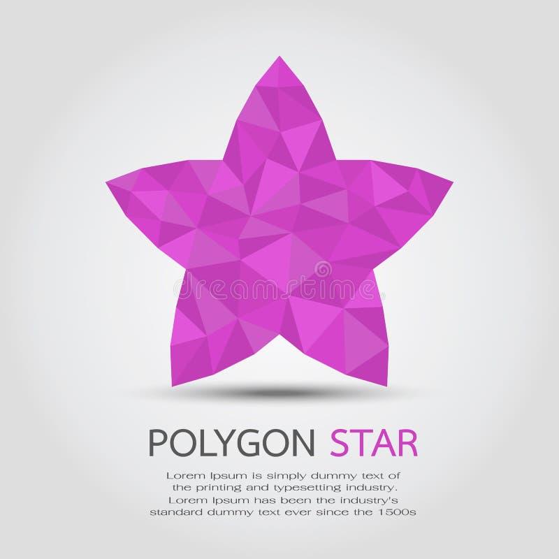 多角形星 库存例证