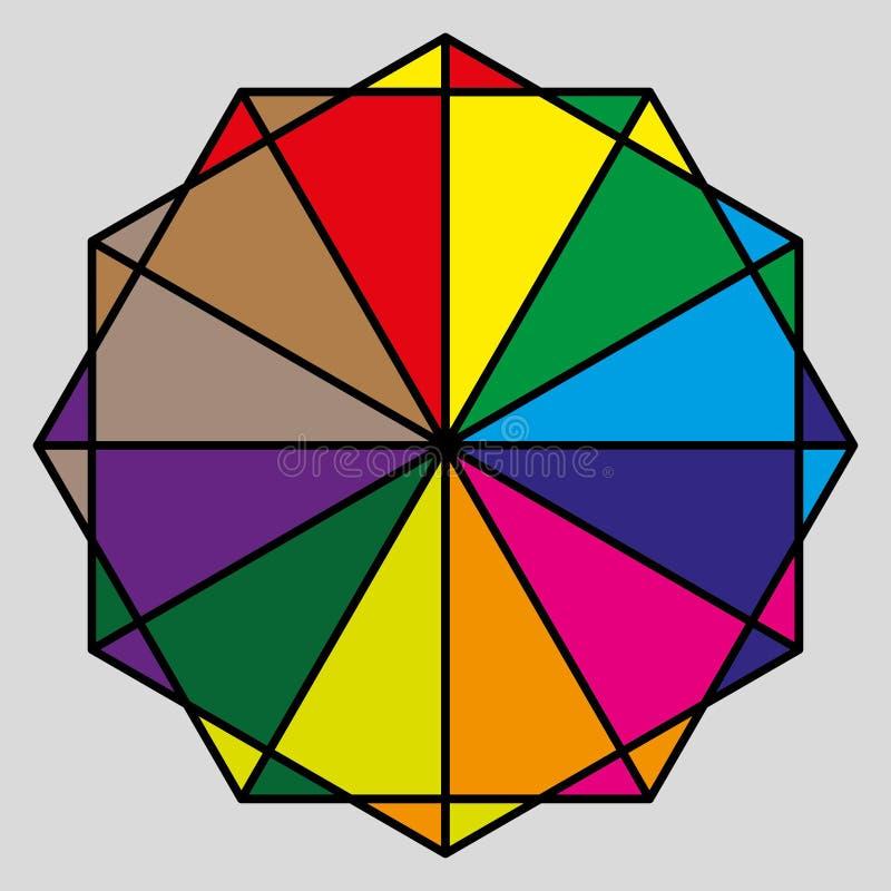 多角形桌五颜六色的框架、传染媒介和例证 皇族释放例证