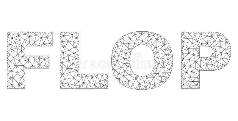 多角形滤网拍击声文本说明 皇族释放例证