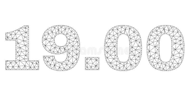 多角形滤网19 00文本标记 皇族释放例证