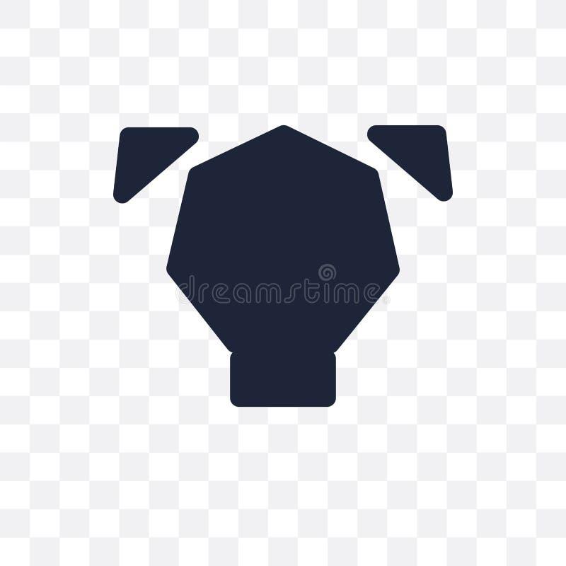 多角形狗透明象 多角形狗标志设计从 皇族释放例证