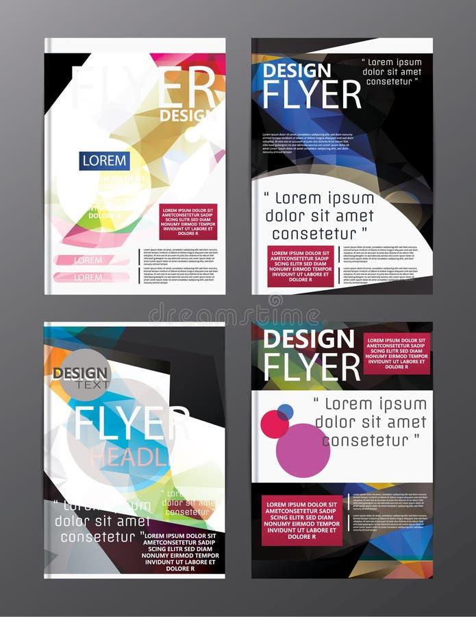 多角形现代小册子布局设计模板 飞行物传单cov 向量例证