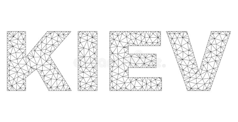 多角形第2个基辅文本标签 皇族释放例证