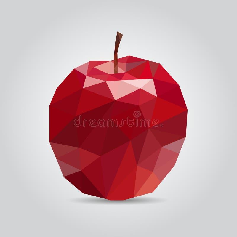 多角形红色苹果有背景 也corel凹道例证向量 自由R 向量例证