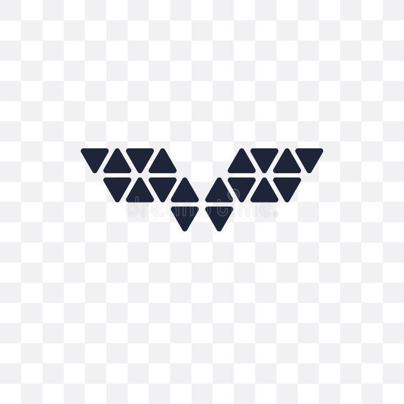 多角形翼透明象 多角形翼标志设计 向量例证