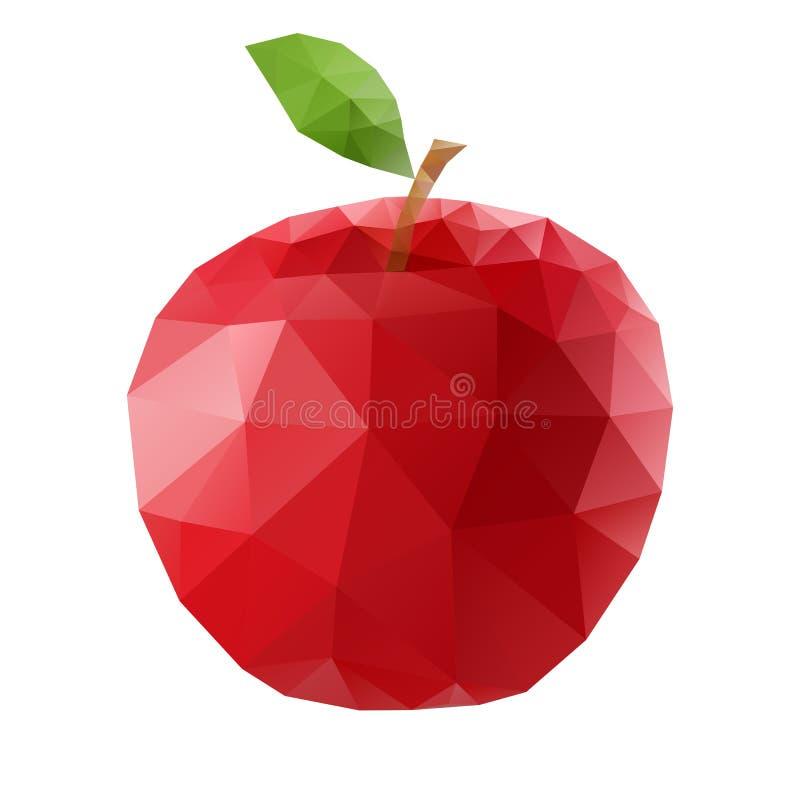多角形苹果 库存例证
