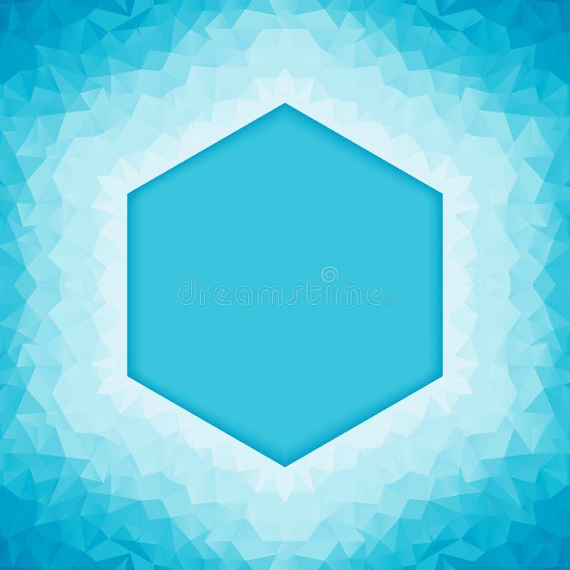 多角形蓝色背景 库存例证