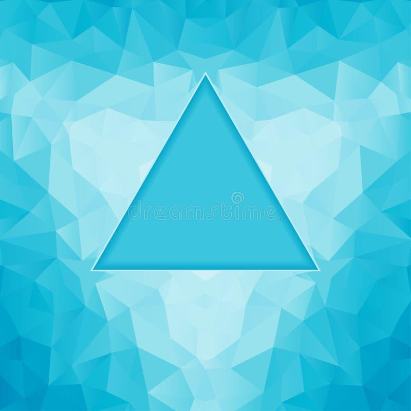 多角形蓝色背景 皇族释放例证