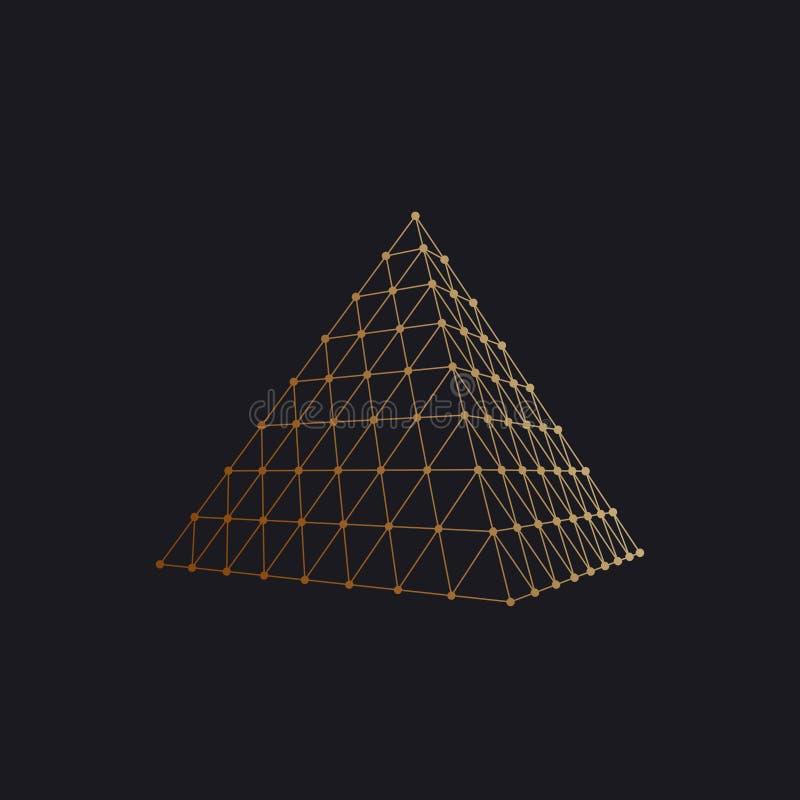 多角形金字塔 皇族释放例证