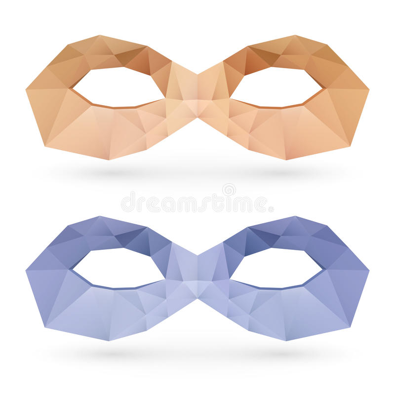 多角形面具 皇族释放例证