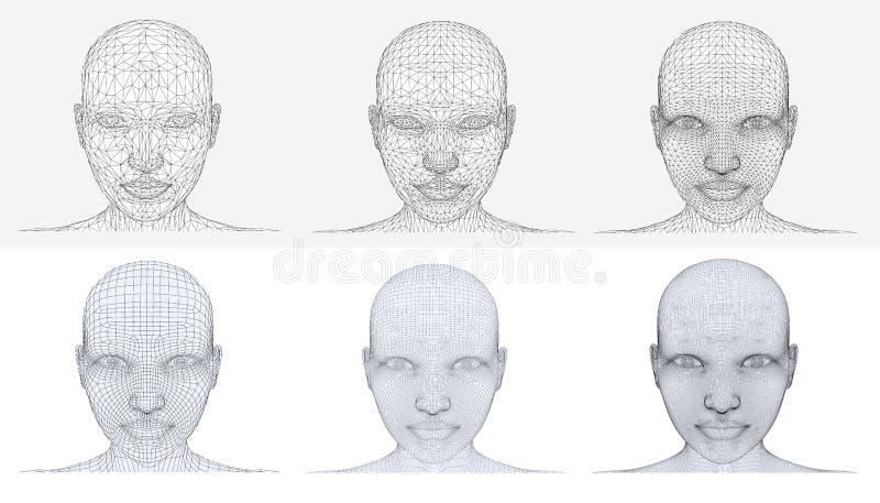 多角形头 库存例证