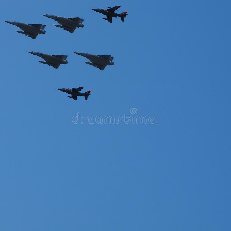 多角色,单引擎的法国喷气式歼击机海市蜃楼2000年和Alph 库存照片