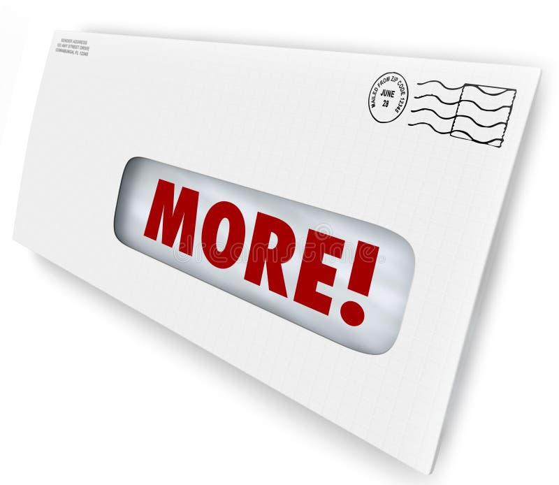 更多词信封增量改进销售邮寄的结果 库存例证