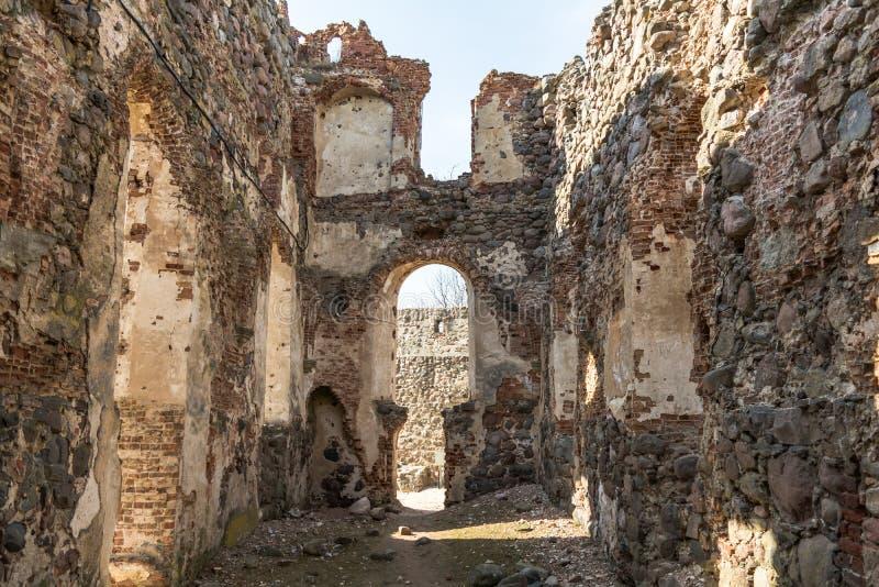 多贝莱中世纪城堡废墟  图库摄影