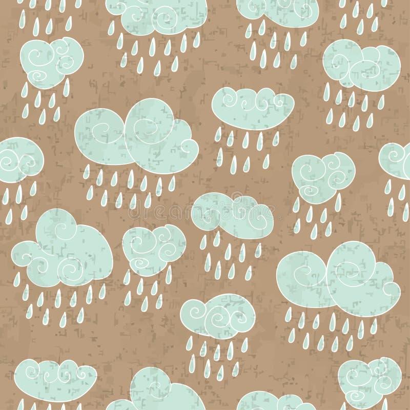 多雨云彩 向量例证