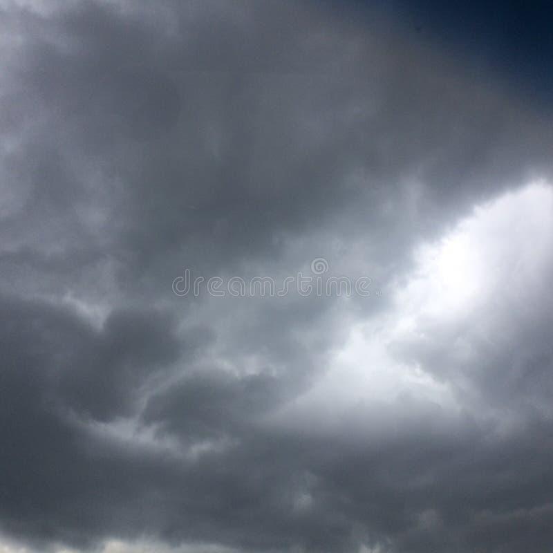 多雨天空 免版税库存图片