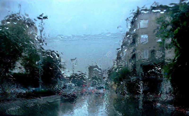 多雨日的印象 图库摄影