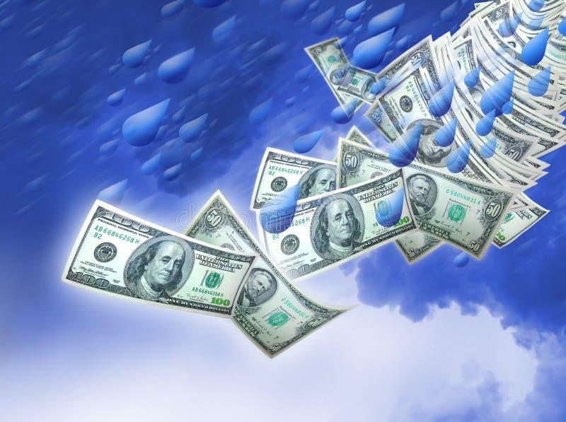 多雨日的货币 库存例证
