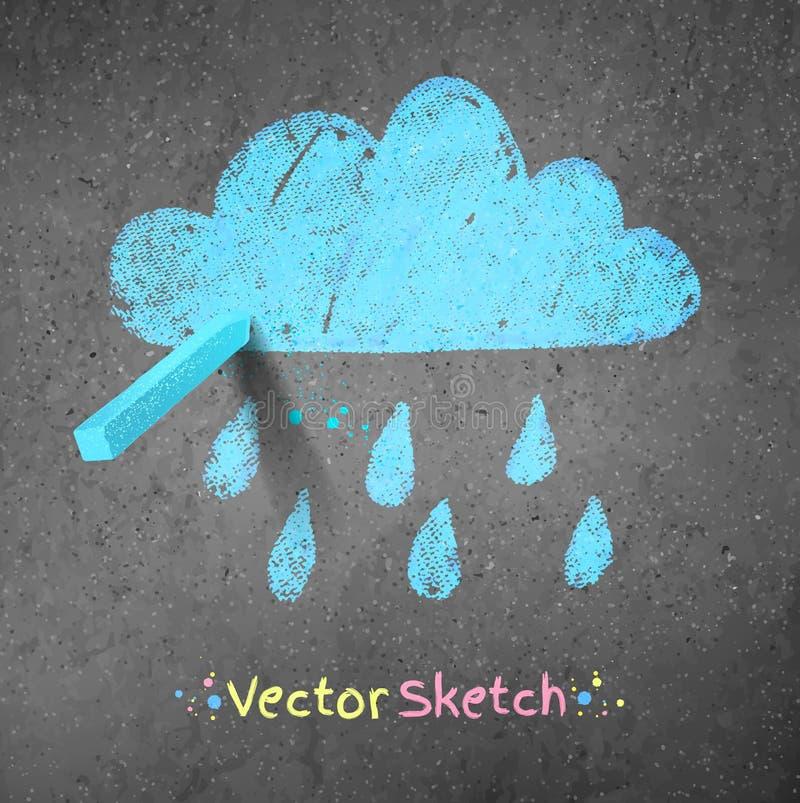 多雨的云彩 向量例证