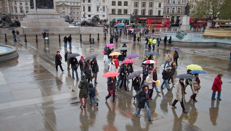 多雨的伦敦 库存图片