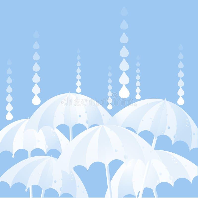 多雨的日 库存例证
