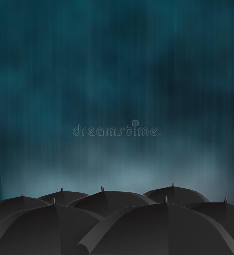 多雨的日 皇族释放例证