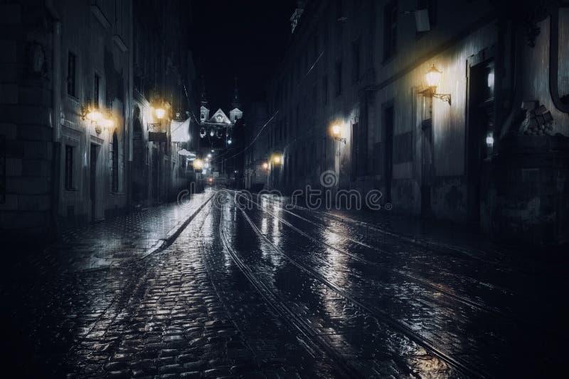 多雨的晚上 库存图片