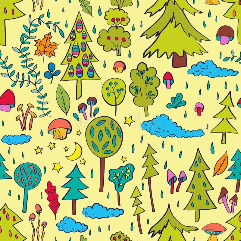 多雨的森林 向量例证