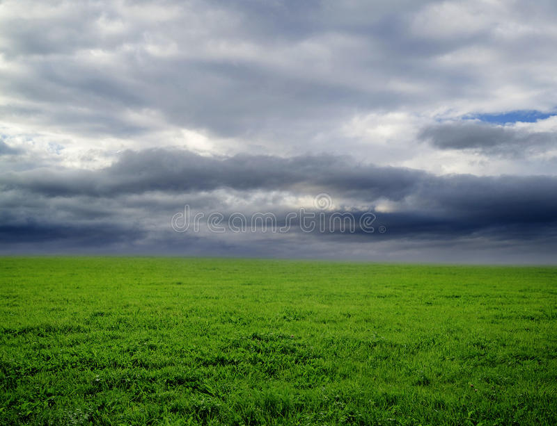 多雨的横向 免版税库存图片