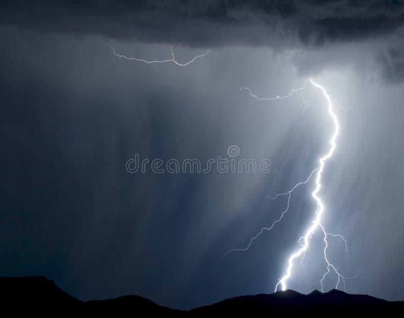 多雨的闪电 库存图片