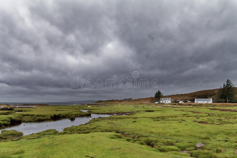 多雨秋天天在苏格兰高地 库存照片