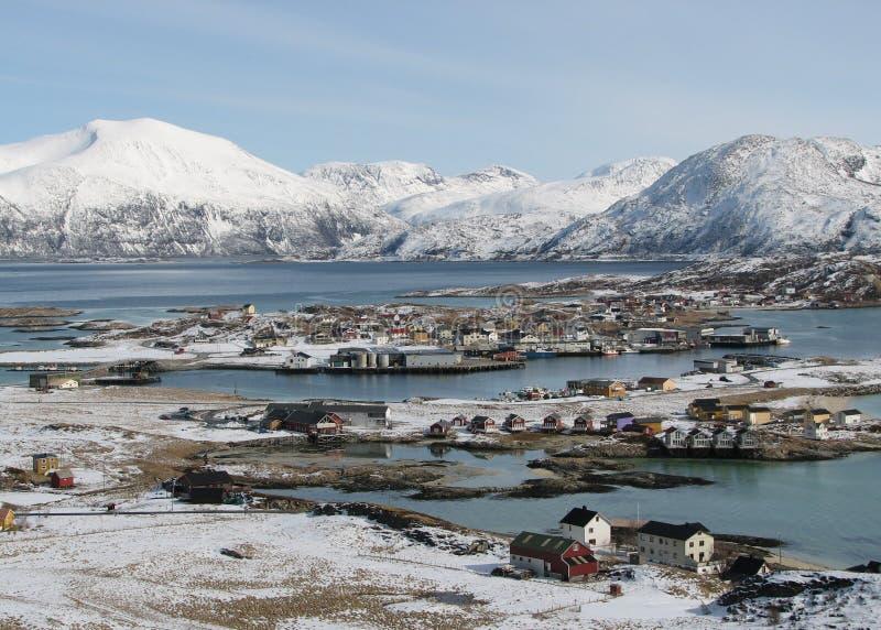 多雪沿海的横向 免版税库存图片