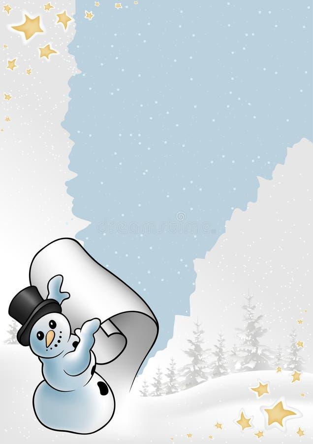多雪的圣诞节 皇族释放例证