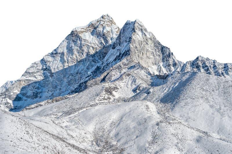 多雪的山峰 库存图片