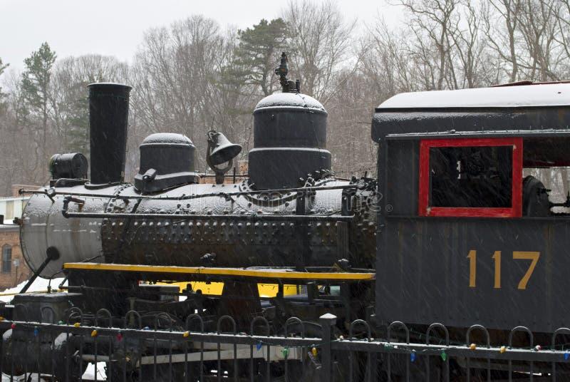 多雪的机车 库存图片