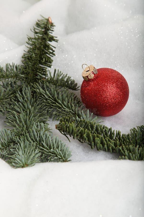 多雪的xmas 库存图片