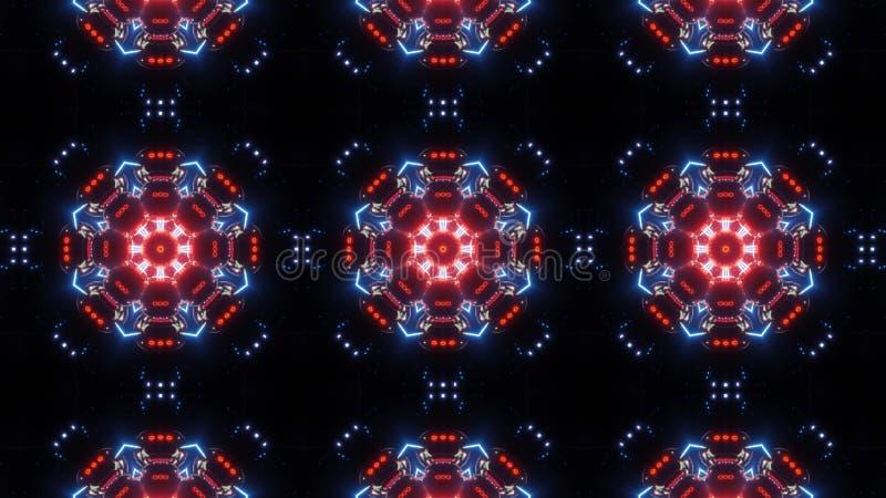 多颜色未来派万花筒样式 现代设计背景 向量例证