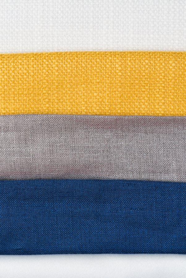 多颜色织品纹理样品 图库摄影