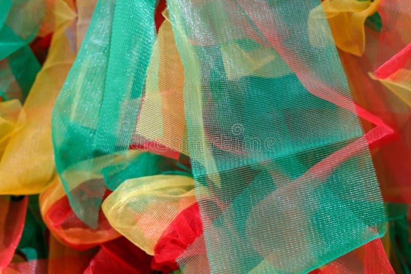 多颜色farbric背景纹理的Cloes  免版税库存照片