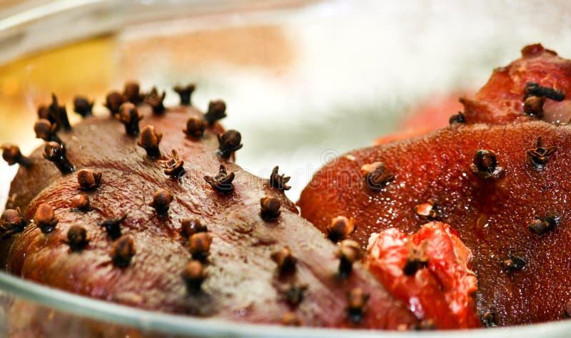 多香果指关节猪肉 免版税库存照片