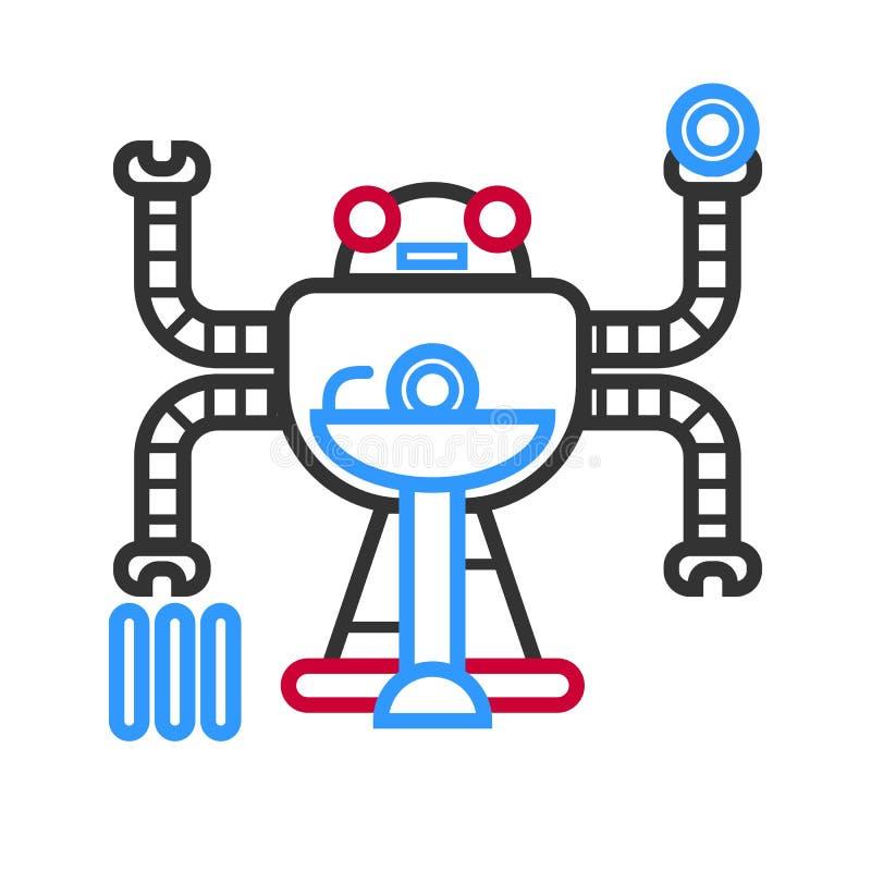 多任务未来派droid 库存例证