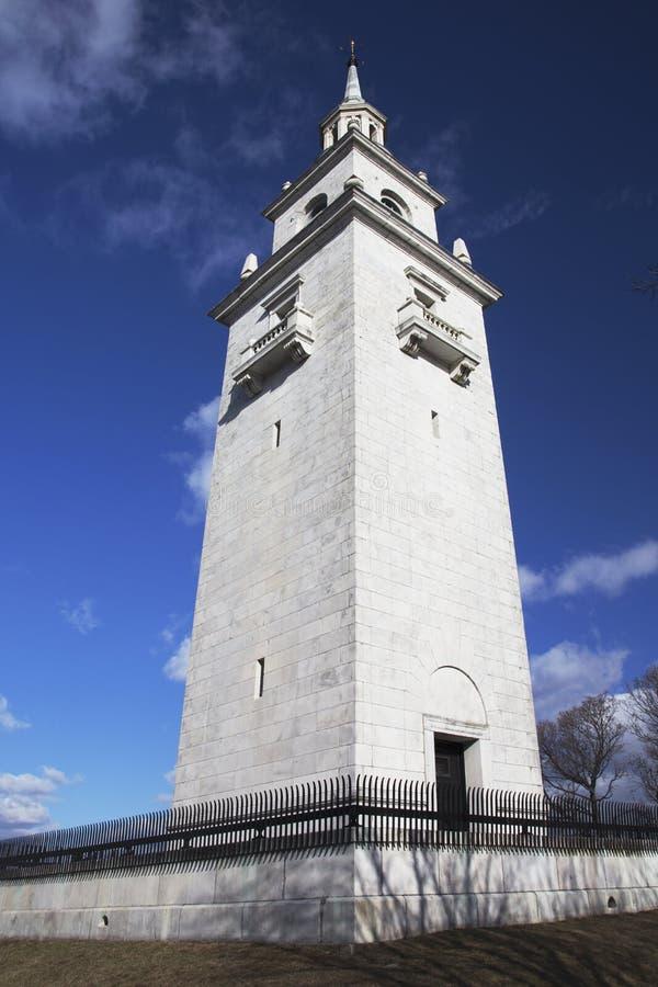 多彻斯特高度纪念塔在托马斯公园,南波士顿马萨诸塞,美国 库存照片