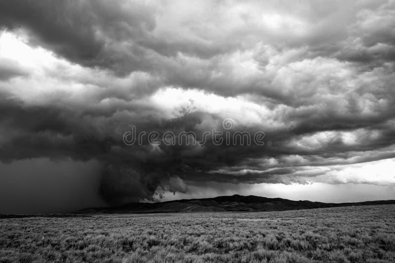 多暴风雨的天气在怀俄明 免版税库存图片