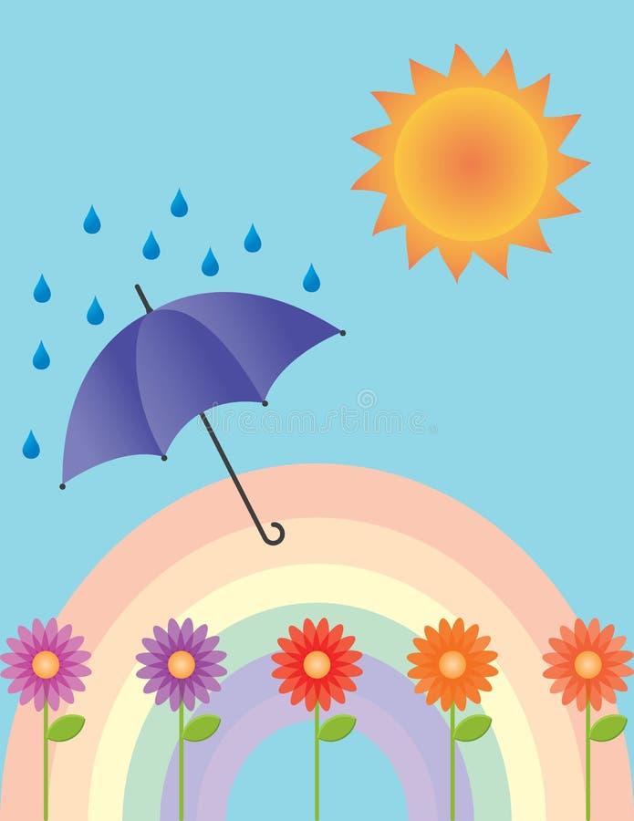 多暴风雨的天气 库存例证