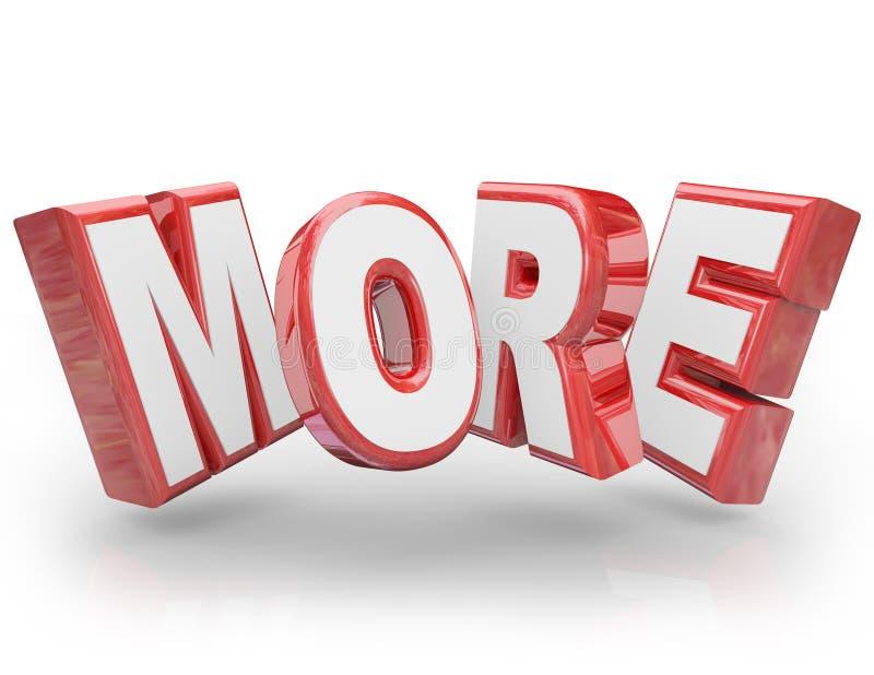 更多3D词增量改进更大的更大的需求 库存例证