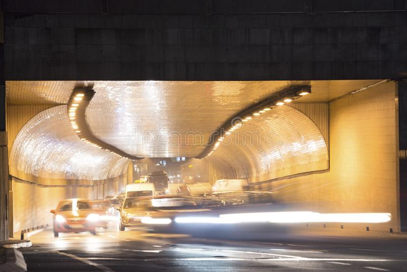 夜交通 库存图片